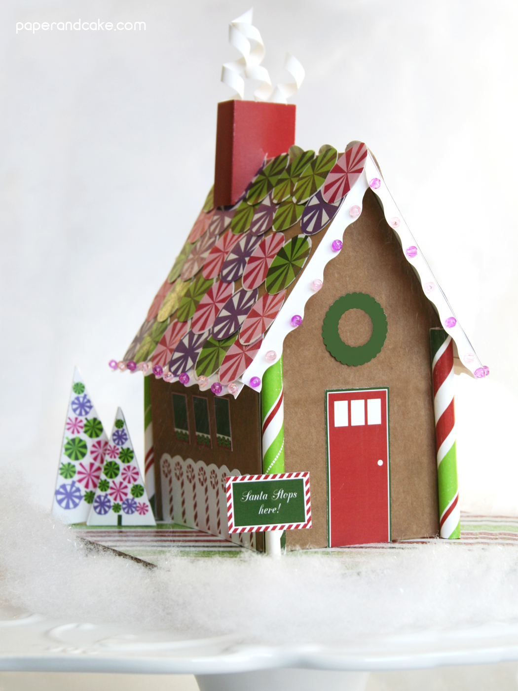 Gingerbread House Cookies  Paper and Cake Paper and Cake