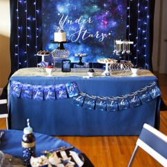 Booth Table For Kitchen And Chairs Under The Stars 15th Birthday Party - Paper Cake ...