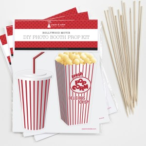 Hollywood Movie Photo Booth Props DIY Kit