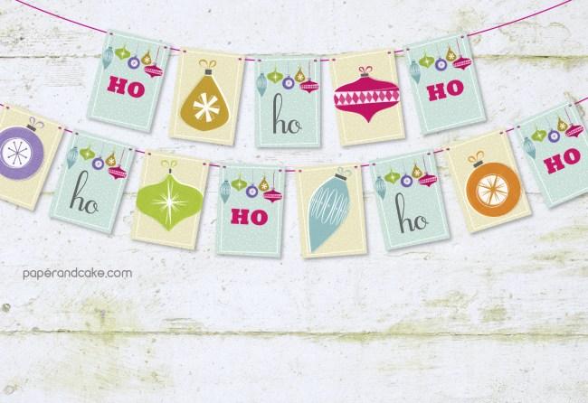 Ho Ho Ho Pennant Banner