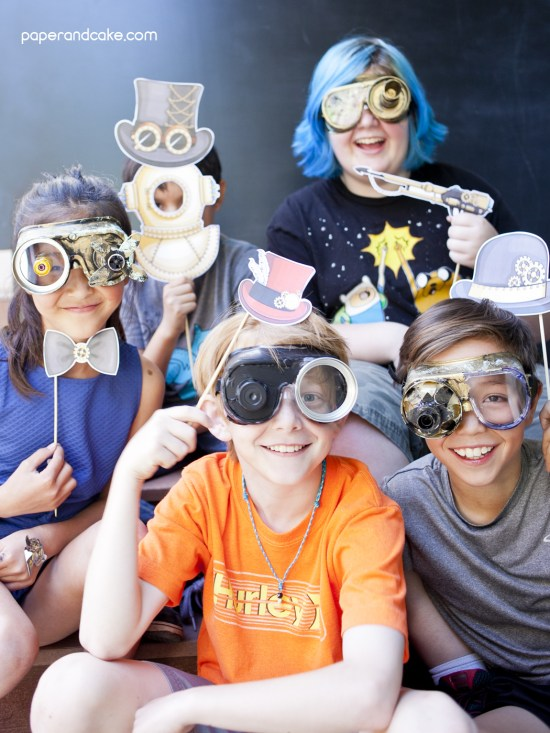 Steampunk Birthday photo booth props
