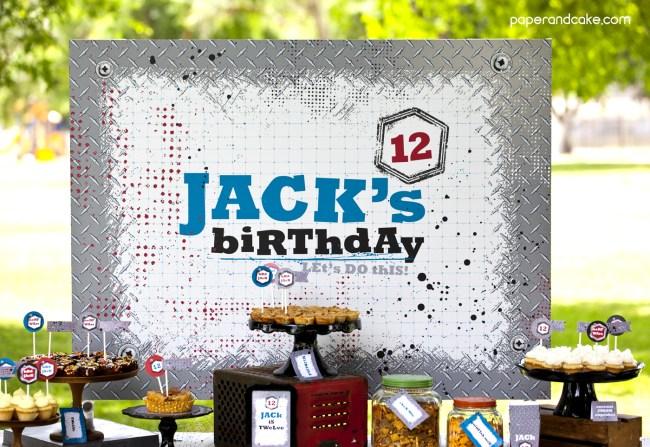 backyard battle backdrop poster