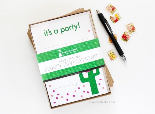 Cactus Fill-In Invitations