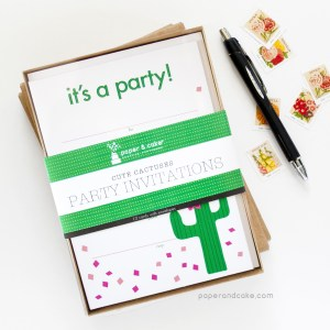 Cactus Fill-In Invitations