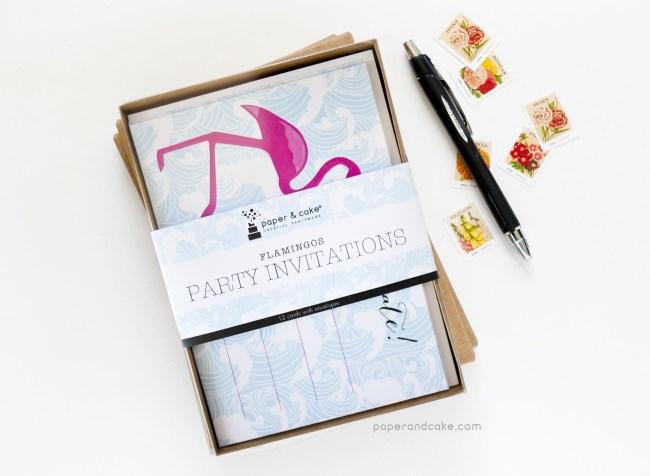 Flamingo Fill-In Invitations