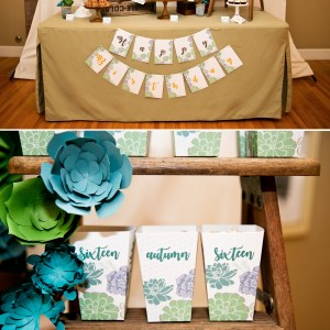 succulent printable party