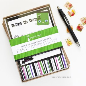 Trick or Treat Fill-In Invitations