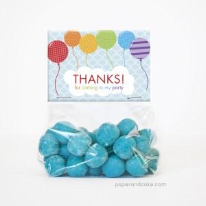 Balloon Rainbow Party Favor Kit for 12