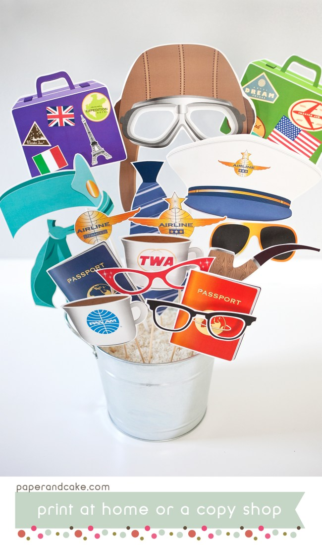 Airplane Printable Photo Booth Props