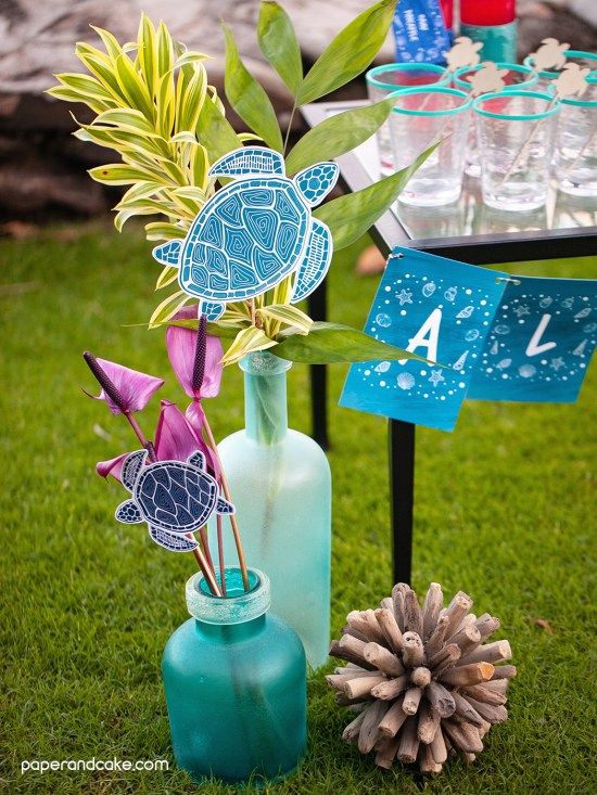 Sea Turtle Destination Party decorations