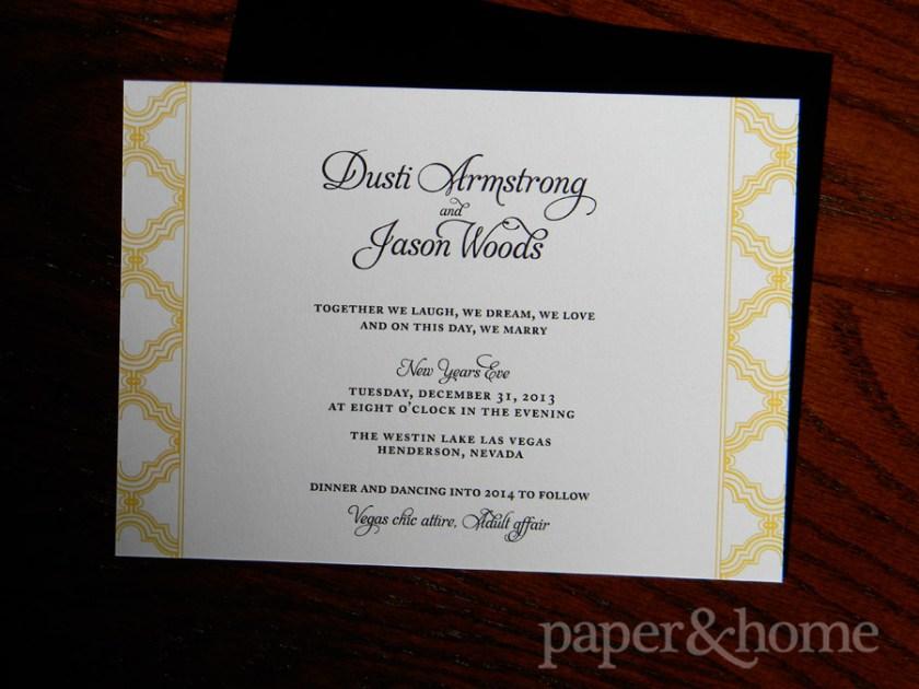 New Year S Eve Wedding Invitation