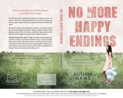 Print Layout for Pre-Made Book Cover ID#0519201701 (No More Happy Endings)