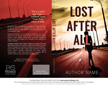 Print layout for Pre-Made Book Cover ID#0317201502 (Lost After All)