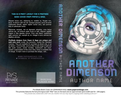 Print Layout for Pre-Made Book Cover ID#0408201602 (Another Dimension)