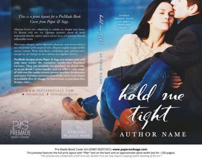 Print Layout for Pre-Made Cover Design #0130201501 (Hold Me Tight)