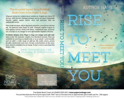 Print layout for Pre-Made Book Cover ID#0318201401 (Rise to Meet You)