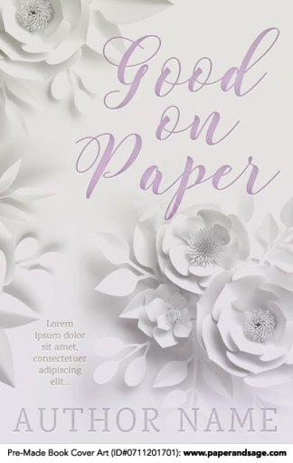 Pre-Made Book Cover ID#0711201701 (Good on Paper)