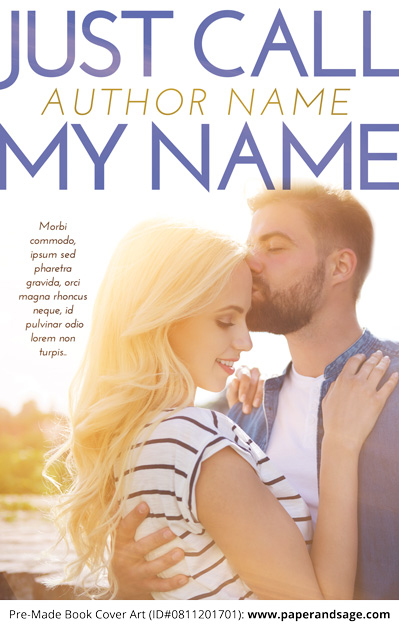 Pre-Made Book Cover ID#0811201701 (Just Call My Name)