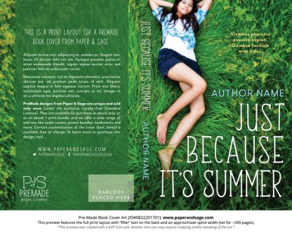 Print Layout for Pre-Made Book Cover ID#0822201701 (Just Because its Summer)