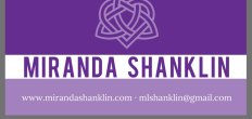 Add-On Example: Miranda Shanklin Business Cards (Front Only, 3.5×2″)