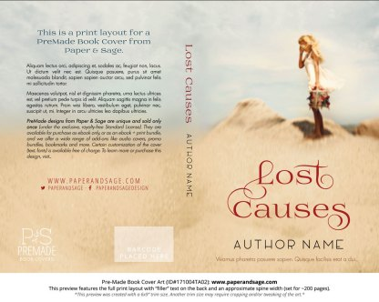 Print layout for Pre-Made Book Cover ID#171004TA02 (Lost Causes)