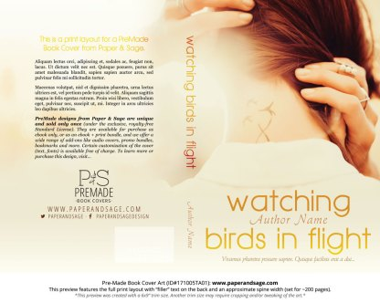 Print Layout for Pre-Made Book Cover ID#171005TA01 (Watching Birds in Flight)