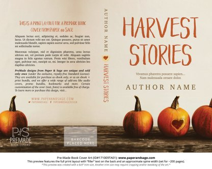 Print layout for Pre-Made Book Cover ID#171009TA01 (Harvest Stories)