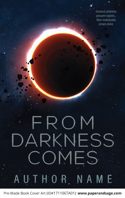 Pre-Made Book Cover ID#171106TA01 (From Darkness Comes)
