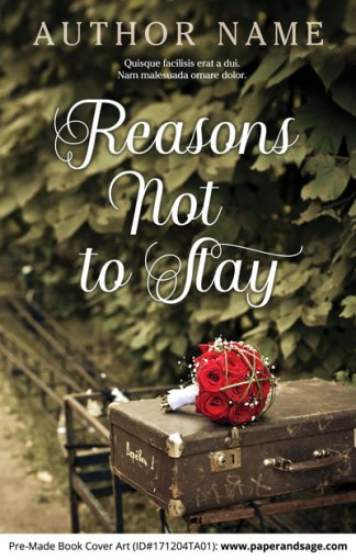 Pre-Made Book Cover ID#171204TA01 (Reasons Not to Stay)