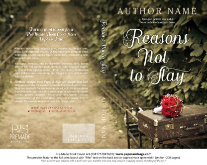 Print layout for Pre-Made Book Cover ID#171204TA01 (Reasons Not to Stay)