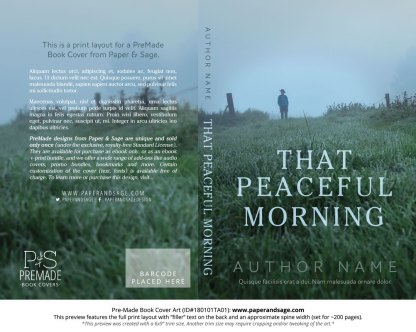Pre-Made Book Cover ID#180101TA01 (That Peaceful Morning)