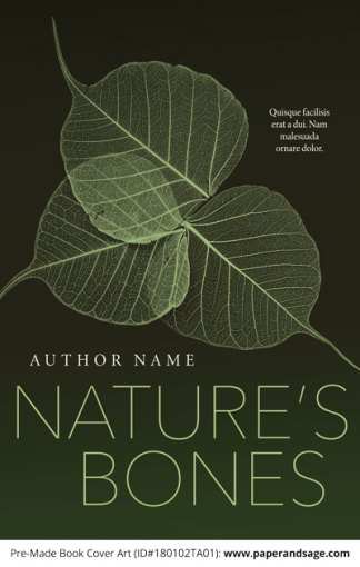 Pre-Made Book Cover ID#180102TA01 (Nature's Bones)