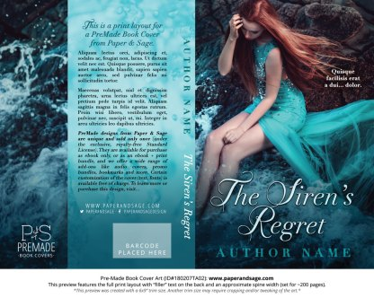 Print layout for Pre-Made Book Cover ID#180207TA02 (The Siren's Regret)