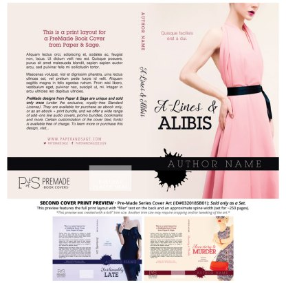 Print layout for PreMade Series Covers ID#032018SB01 (Fashionably Late Series, Only Sold as a Set)