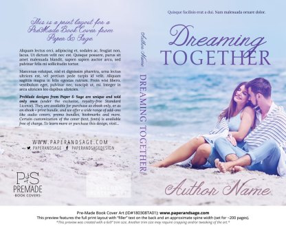 Print Layout for Pre-Made Book Cover ID#180308TA01 (Dreaming Together)