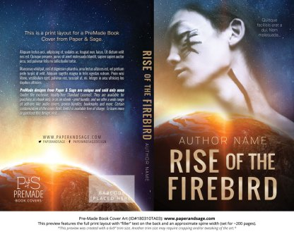 Print layout for Pre-Made Book Cover ID#180310TA03 (Rise of the Firebird)