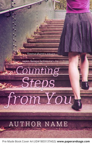 Pre-Made Book Cover ID#180313TA02 (Counting Steps from You)