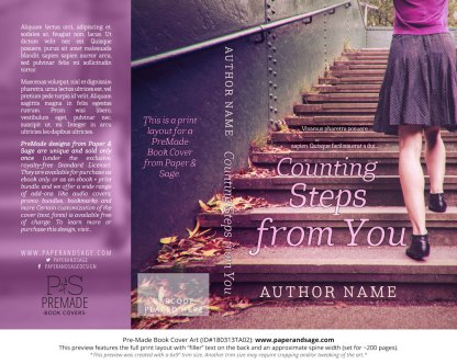 Print layout for Pre-Made Book Cover ID#180313TA02 (Counting Steps from You)