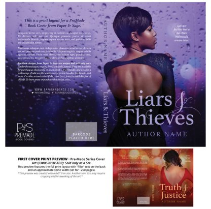 PreMade Series Covers ID#052018SA02 (Liars & Thieves Series, Only Sold as a Set)