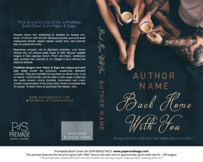 Print layout for Pre-Made Book Cover ID#180502TA01 (Back Home with You)