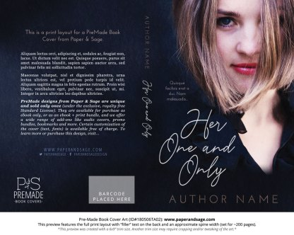 Print layout for Pre-Made Book Cover ID#180506TA02 (Her One and Only)
