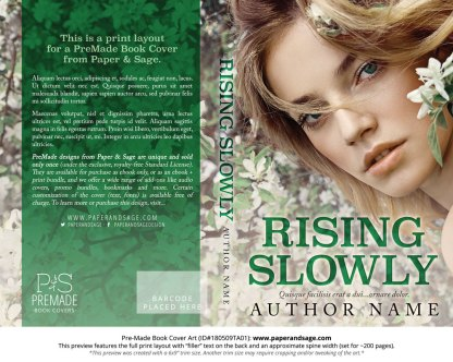 Print layout for Pre-Made Book Cover ID#180509TA01 (Rising Slowly)