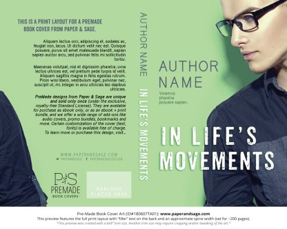 Print layout for Pre-Made Book Cover ID#180607TA01 (In Life's Movements)