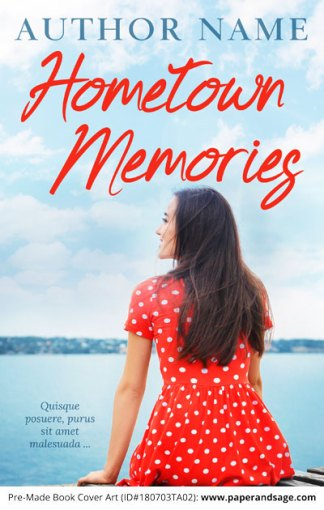 Pre-Made Book Cover ID#180703TA02 (Hometown Memories)