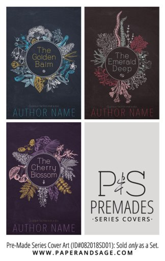 PreMade Series Covers ID#082018SD01 (Golden Balm Series, Only Sold as a Set)