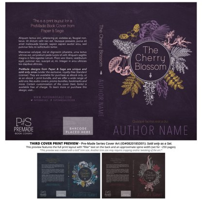 Print layout for PreMade Series Covers ID#082018SD01 (Golden Balm Series, Only Sold as a Set)