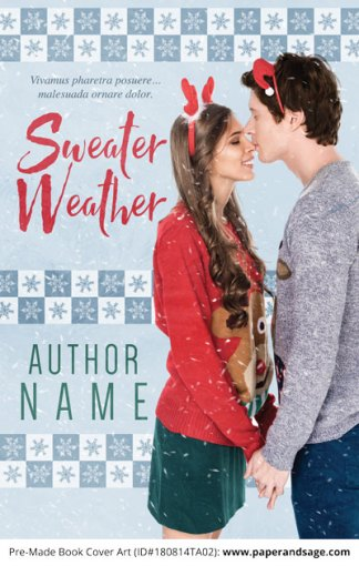 Pre-Made Book Cover ID#180814TA02 (Sweater Weather)