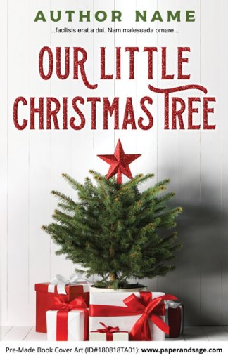 Pre-Made Book Cover ID#180818TA01 (Little Christmas Tree)
