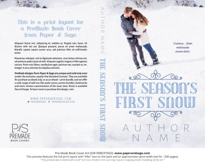 Print layout for Pre-Made Book Cover ID#180823TA02 (The Season's First Snow)