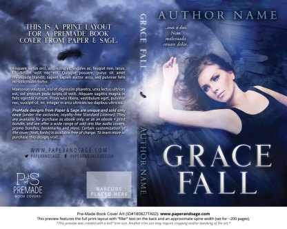 Print layout for Pre-Made Book Cover ID#180827TA02 (Grace Fall)